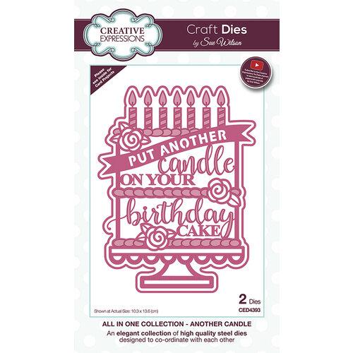 Birthday Cake Metal Die Cut stencil Another Candle Sue Wilson Craft Cutting Dies