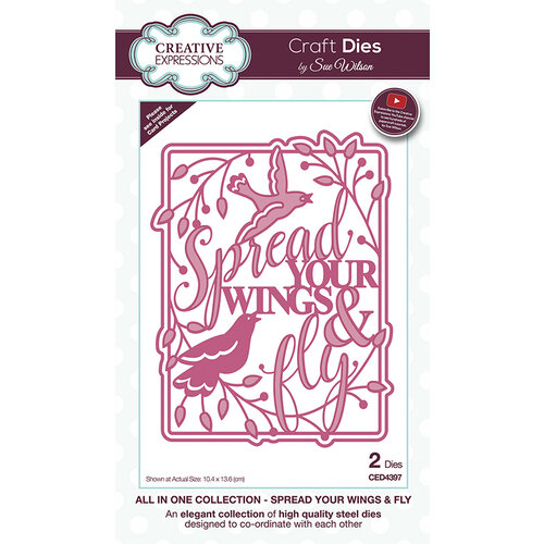 Creative Expressions - Craft Dies - All In One - Spread Your Wings and Fly