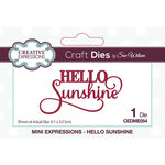 Creative Expressions - Craft Dies - Mini Expressions - Hello Sunshine
