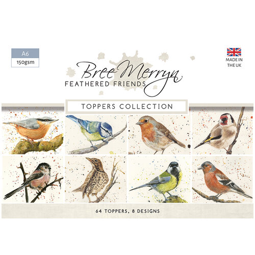 Creative Expressions - Feathered Friends Collection - A6 Toppers