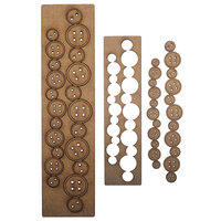 Creative Expressions - Art-Effex - Wood Embellishments - Buttons Border