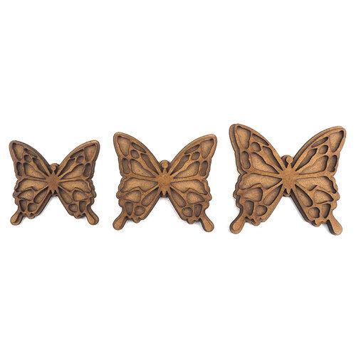 Creative Expressions - Art-Effex - Wood Embellishments - Layered Butterflies
