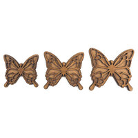 Creative Expressions - Art-Effex - Wood Embellishments - Layered Butterflies