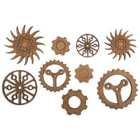 Creative Expressions - Art-Effex - Wood Embellishments - Cogs and Gears