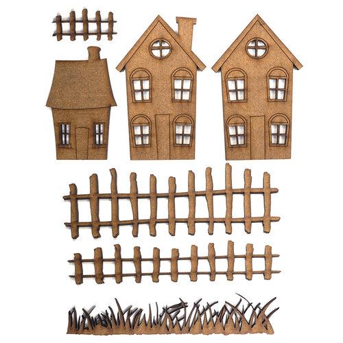 Creative Expressions - Art-Effex - Wood Embellishments - Houses