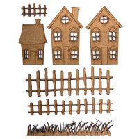 Creative Expressions - Art-Effex - Wood Embellishments - Houses