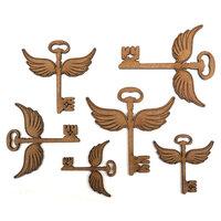 Creative Expressions - Art-Effex - Wood Embellishments - Winged Keys