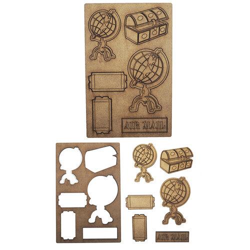 Creative Expressions - Art-Effex - Wood Embellishments - Travel Globes