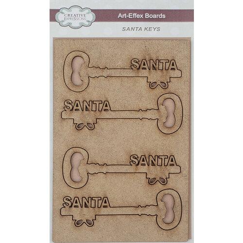 Creative Expressions - Christmas - Art-Effex - Wood Embellishments - Santa Keys