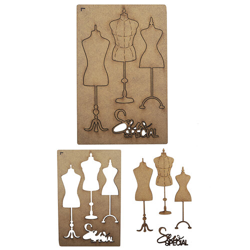 Creative Expressions - Art-Effex - Wood Embellishments - Mannequins