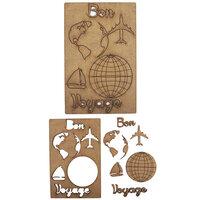 Creative Expressions - Art-Effex - Wood Embellishments - Bon Voyage