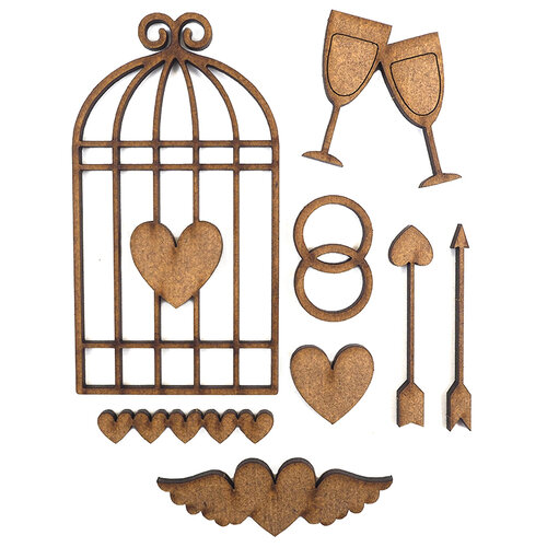 Creative Expressions - Art-Effex - Wood Embellishments - Love Artifacts