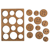 Creative Expressions - Art-Effex - Wood Embellishments - Buttons