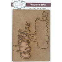Creative Expressions - Art-Effex - Wood Embellishments - Happy Christmas