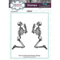 Creative Expressions - Halloween - Cling Mounted Rubber Stamp - Pray
