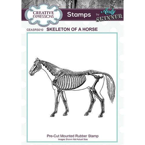 Creative Expressions - Halloween - Cling Mounted Rubber Stamp - Skeleton of a Horse