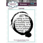 Creative Expressions - Cling Mounted Rubber Stamp - Coffee Art