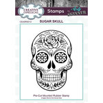 Creative Expressions - Halloween - Cling Mounted Rubber Stamp - Sugar Skull