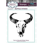 Creative Expressions - Cling Mounted Rubber Stamp - Buffalo Stance