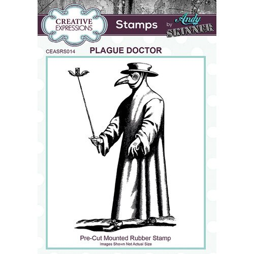 Creative Expressions - Halloween - Cling Mounted Rubber Stamp - Plague Doctor