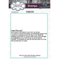 Creative Expressions - Cling Mounted Rubber Stamp - Create