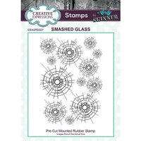 Creative Expressions - Cling Mounted Rubber Stamp - Smashed Glass