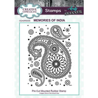 Creative Expressions - Cling Mounted Rubber Stamp - Memories of India