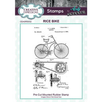 Creative Expressions - Cling Mounted Rubber Stamp - Rice Bike