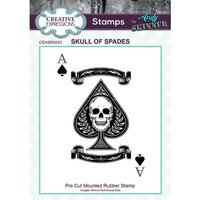 Creative Expressions - Cling Mounted Rubber Stamp - Skull of Spades