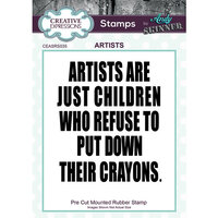 Creative Expressions - Cling Mounted Rubber Stamp - Artists