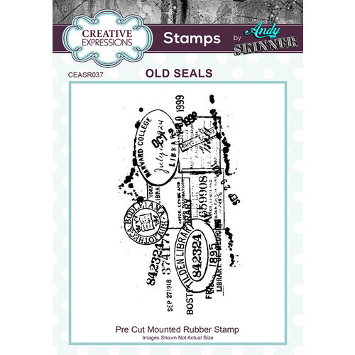 Creative Expressions - Pre Cut Rubber Stamp - Old Seals