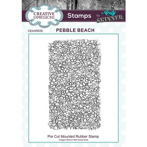 Creative Expressions - Pre Cut Rubber Stamp - Pebble Beach