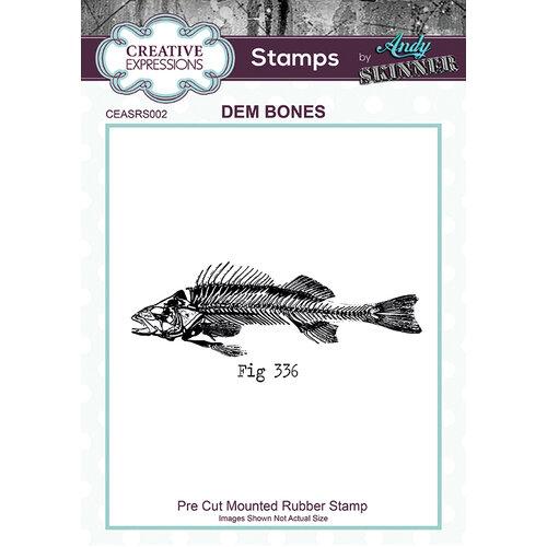 Creative Expressions - Cling Rubber Stamp - Dem Bones