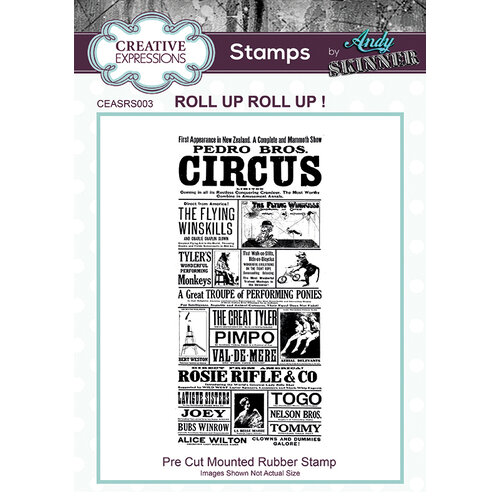 Creative Expressions - Cling Rubber Stamp - Roll up Roll up!