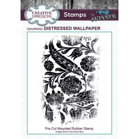 Creative Expressions - Cling Rubber Stamp - Distressed Wallpaper