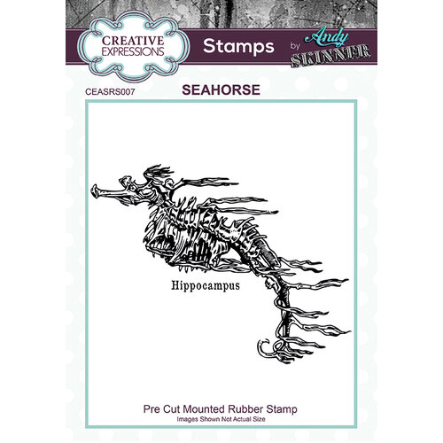 Creative Expressions - Cling Rubber Stamp - Seahorse