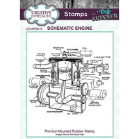 Creative Expressions - Cling Rubber Stamps - Schematic Engine