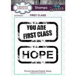 Creative Expressions - Cling Rubber Stamps - First Class