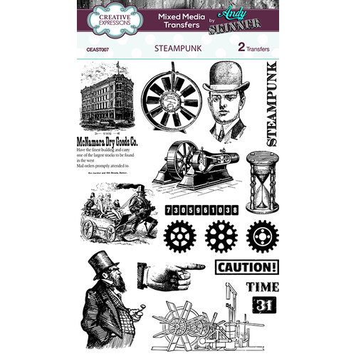Creative Expressions - Mixed Media Transfers - Steampunk