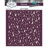 Creative Expressions - Stencil - 7 x 7 - Let It Rain