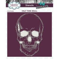Creative Expressions - Stencil - 7 x 7 - Half Tone Skull