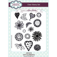 Creative Expressions - Clear Acrylic Stamps - A5 - Art Elements