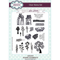 Creative Expressions - Clear Acrylic Stamps - A5 - Scenic Elements
