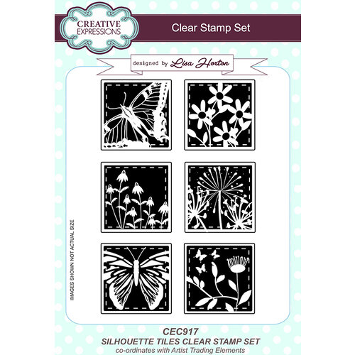 Creative Expressions - Artist Trading - Clear Acrylic Stamps - A5 - Silhouette Tiles