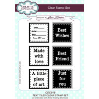 Creative Expressions - Artist Trading - Clear Acrylic Stamps - A5 - Text Tiles