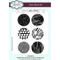 Creative Expressions - Artist Trading - Clear Acrylic Stamps - A5 - Inverted Circle