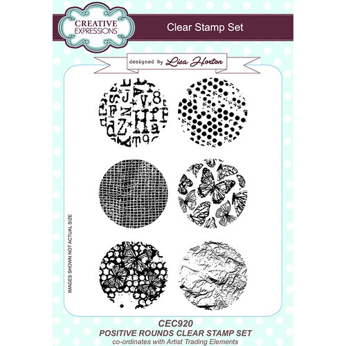 Creative Expressions - Artist Trading - Clear Acrylic Stamps - A5 - Positive Rounds