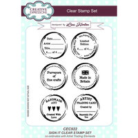 Creative Expressions - Artist Trading - Clear Acrylic Stamps - A5 - Sign It