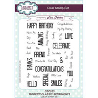 Creative Expressions - Clear Acrylic Stamps - A5 - Modern Classic Sentiments