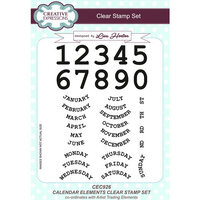 Creative Expressions - Artist Trading - Clear Acrylic Stamps - A5 - Calendar Elements